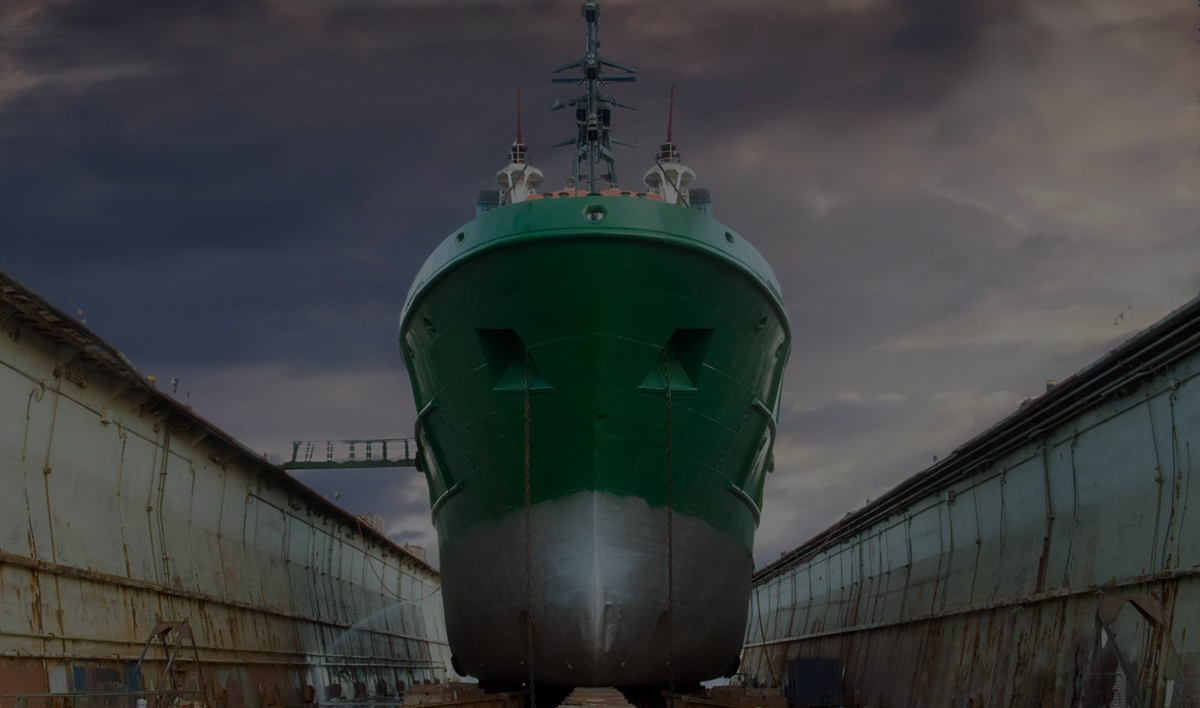 Ship-in-dry-dock